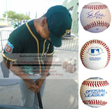Baseballs-Autographed - Tyler Ladendorf Signed Rawlings ROLB Leather Baseball, Proof Photo- Oakland Athletics A's- Collage 1