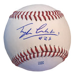 Baseballs-Autographed - Tyler Ladendorf Signed Rawlings ROLB Leather Baseball, Proof Photo- Oakland Athletics A's- 101