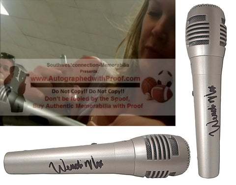 Microphones-Autographed - Wendi Nix Signed Pyle Full Size Microphone, Proof Photo Collage 2