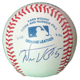 Baseballs-Autographed - Wilson Valdez Signed Rawlings ROLB1 Leather Baseball, Proof Photo- Los Angeles Dodgers- New York Mets- 101