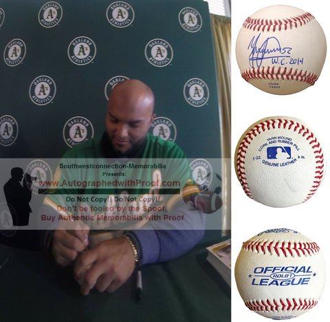 Baseballs-Autographed - Yusmiero Petit Signed Rawlings Baseball W/Inscription, Proof Photo- San Francisco Giants- Collage- 1