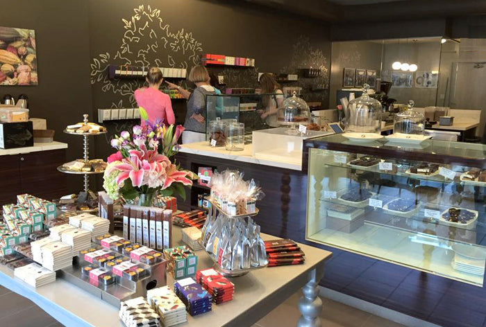 gourmet chocolate cafe and boutique coffee shop