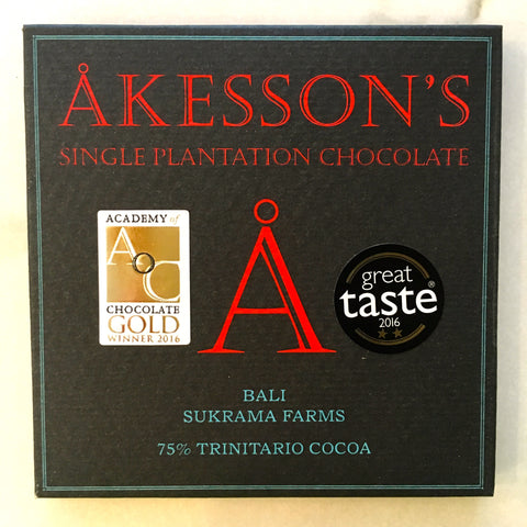 Akesson's Bali Sukrama Farms Trinitario 75% Dark Chocolate Bar