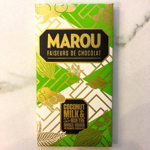 Marou Coconut Milk 55% Dark Milk Chocolate Bar