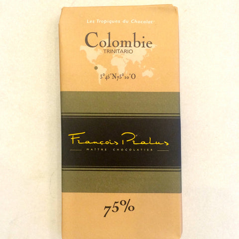 Francois Parlus Colombie Columbia 75% Dark Chocolate Bar