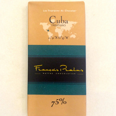 Francois Parlus Cuba 75% Dark Chocolate Bar