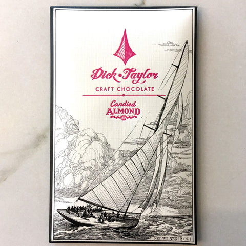 Dick Taylor Candied Almond 73% Dark Chocolate Bar