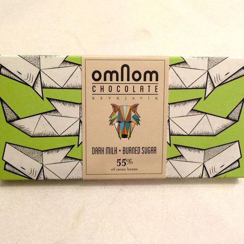 OmNom Milk + Burnt Sugar 55% Dark Milk Bar