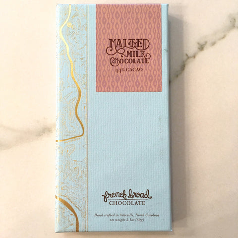French Broad Chocolate Malted Milk Chocolate Bar