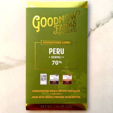 Goodnow Farms Peru Ucayali Dark Chocolate Bar