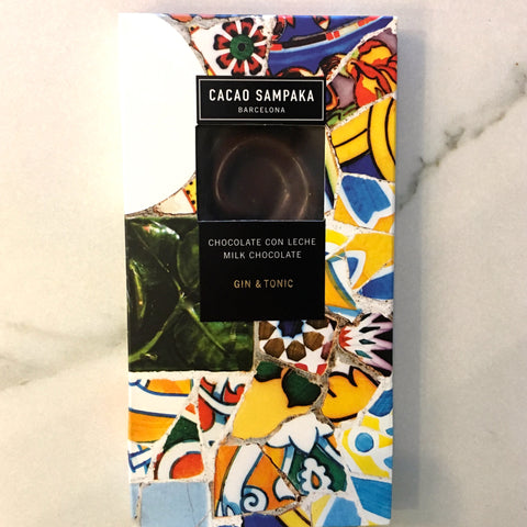 Cacao Sampaka Gin and Tonic 40% Milk Chocolate Bar