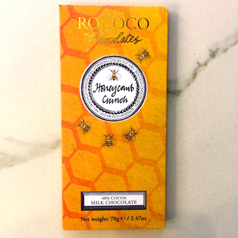 Rococo Honeycomb Crunch 40% Dark Milk Chocolate Bar