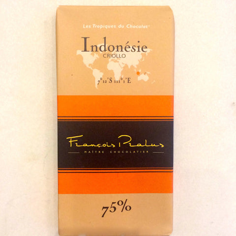 Francois Pralus Indonésie 75% Dark Chocolate Bar