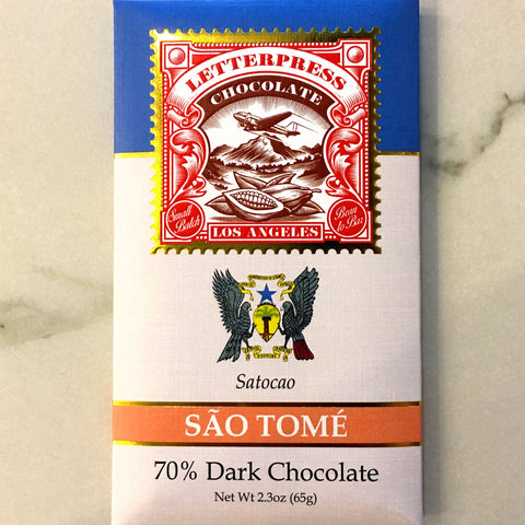 Letterpress Sao Tome 70% Dark Chocolate Bar