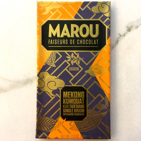 Marou Kumquat Dark Chocolate Bar Mekong Vietnam