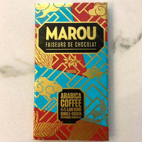 Marou Arabica Coffee 64% Lam Dong Dark Chocolate Bar