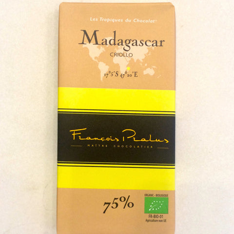 Francois Parles Madagascar 75% Dark Chocolate Bar