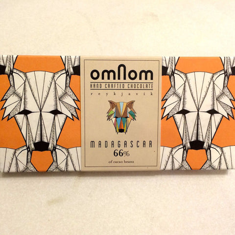 OmNom Madagascar 66% Dark Chocolate Bar