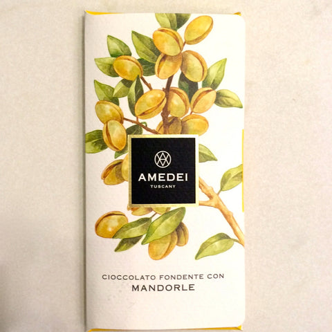 Amedei 63% Dark Chocolate Bar with Almonds