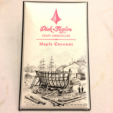 Dick Taylor Maple Coconut 72% Dark Chocolate Bar