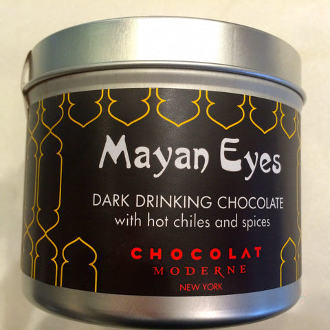 MAYAN EYES DRINKING CHOCOLATE