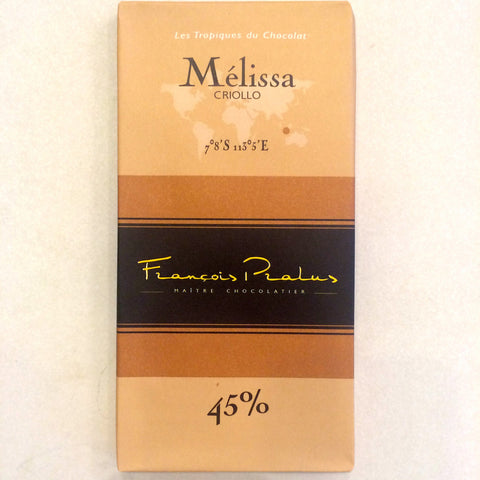 Francois Pralus Melissa 45% Dark Milk Chocolate Bar