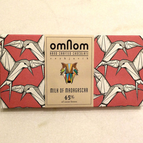 OmNom Milk of Madagascar 45% Chocolate Bar