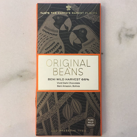 Original Beans Beni Wild Harvest 66% Dark Chocolate Bar