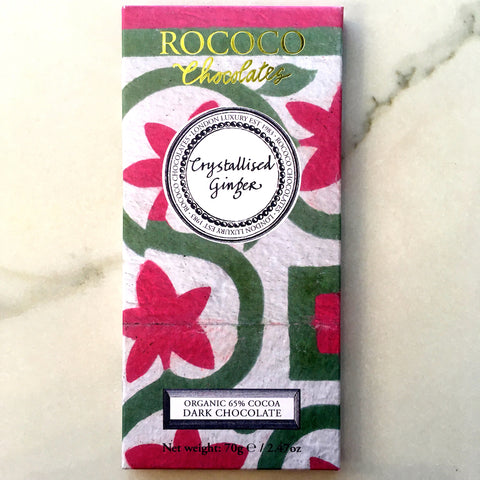 Rococo Chocolates Crystallized Ginger Bar