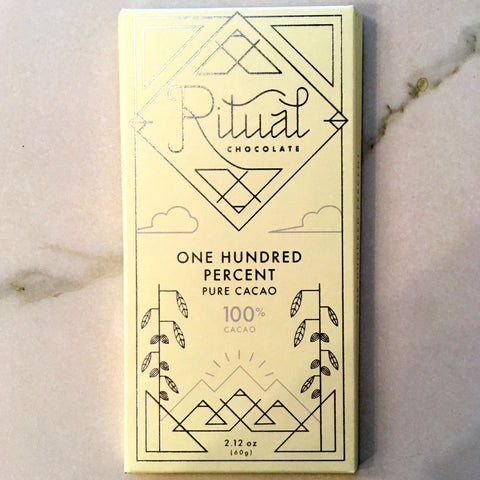 Ritual 100% Pure Dark Chocolate Bar