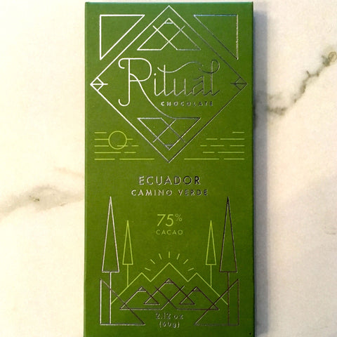 Ritual Ecuador Camino Verde 75% Dark Chocolate Bar