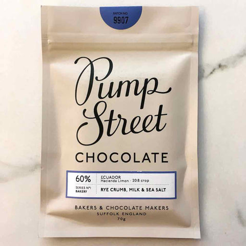 Pump Street Chocolate Rye Milk Sea Salt Hacienda Limon Ecuador Bar