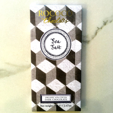 Rococo Chocolate Sea Salt 65% Dark Chocolate Bar
