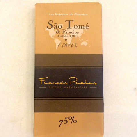 Francois Parles Sao Tome 75% Dark Chocolate Bar
