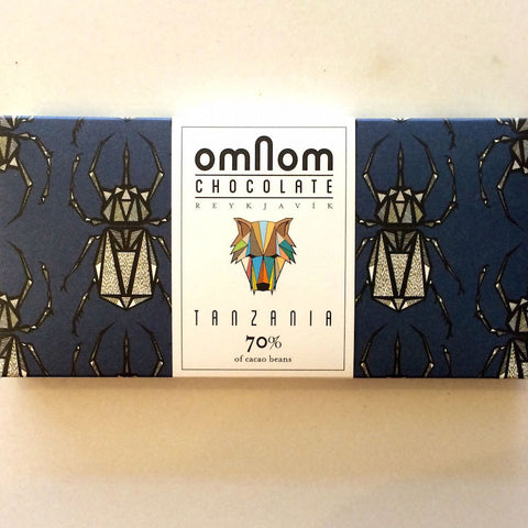 OmNom Tanzania 70% Dark Chocolate Bar