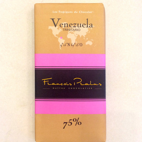 Francois Parles Venezuela 75% Dark Chocolate Bar