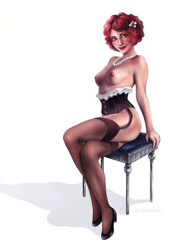 Burlesque illustration