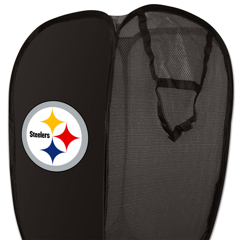 NFL Pittsburgh Steelers Hamper Football Logo Storage Basket