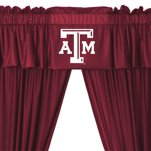 NCAA Texas A-M Aggies 5pc Curtains and Valance Set: 84drop