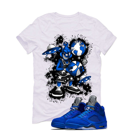 Air Jordan 5 Blue Suede White T (ALIEN MIKEY)