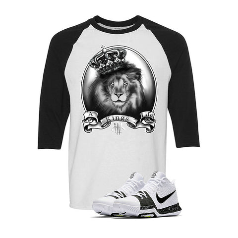 Nike Kyrie 3 White Black White & Black Baseball T (A KINGS LIFE)
