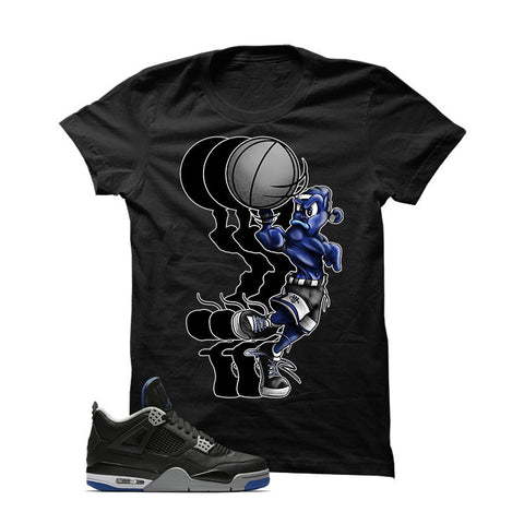 Jordan 4 Game Royal Black T Shirt (Ball Spinner)