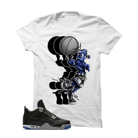 Jordan 4 Game Royal White T Shirt (Ball Spinner)