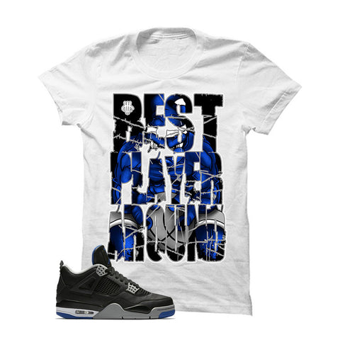 Jordan 4 Game Royal White T Shirt (BEST PLAYER)