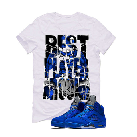 Air Jordan 5 Blue Suede White T (BEST PLAYER AROUND)