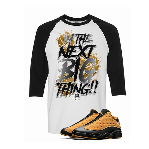 Air Jordan 13 Low Chutney White & Black Baseball T (Big Thing)