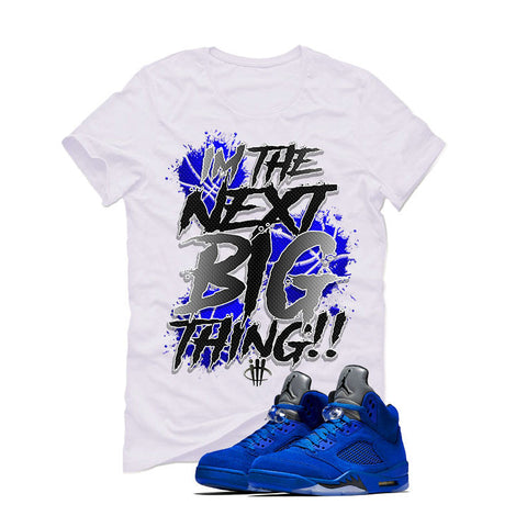 Air Jordan 5 Blue Suede White T (BIG THING)