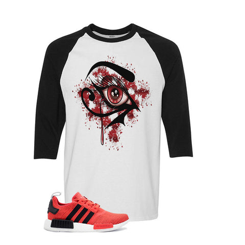 Adidas NMD R1 Red/Black White And Black Baseball T's (Bloody eye)