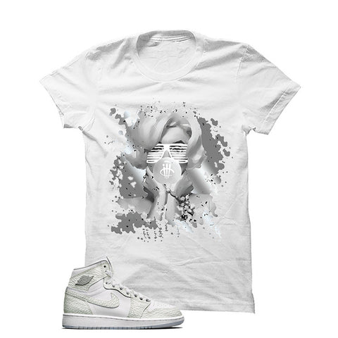 USA Foamposite One White T Shirt (Love Is Fake)