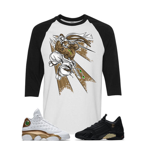 Jordan 13/14 Defining moments pack White And Black Baseball T's (BUGS)